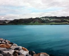 Painting, Iceland, Anny Langer Art