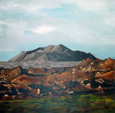 Painting,Iceland, Anny Langer Art